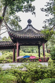 People gazebo Kowloon Walled City Park Hong Kong — Stock Photo