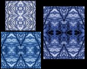 3 seamless blue snow pattern. — Stock Photo