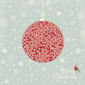 Greeting card with  ornamental Christmas ball — Vetorial Stock