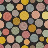 Abstract seamless pattern with large colored dots — Vecteur