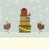 Christmas greeting card and place for text — Stockvector