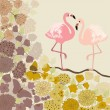 Floral background with flamingos — Stock Vector #58743243