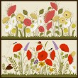 Set of floral card with stylized flowers — Stock Vector #67313445
