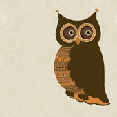 Cute stylized owl  — Stock Vector
