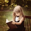 Smart Child Reading Education Book Outside — Stock Photo #54373115