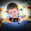 Boy Playing Video Game Controller — Stock Photo #73134677
