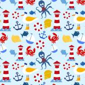 Nautical seamless pattern — Stock Photo