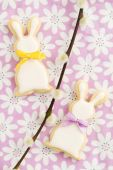Easter bunny sugar cookies — Stock Photo