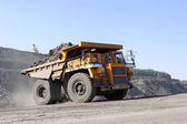Coal mining. The truck transporting coal. — Stock Photo