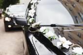 在婚礼婚车车 — 图库照片