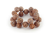 Brown wooden beads bracelet — Foto de Stock