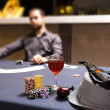 Dealer spreading the deck at poker game — Stock Photo #61227123