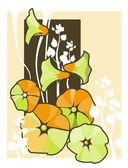 Flower vines — Stock Vector