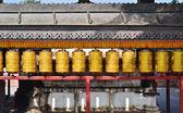 Buddhist prayer wheels in  Boudhanath,Kathmandu capital of Nepal — Stock Photo