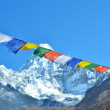 Colorful prayer flags and  Ama Dablam, Everest region, Nepal — Stock Photo #61063581