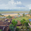 VIEW from the top floor of hotel on national park in Chitwan — Fotografia Stock  #70587667