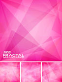 Fractal abstract background — Stock Vector