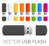 Color usb flash — Vector de stock