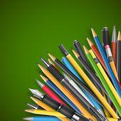 钢笔和铅笔 — 图库矢量图片