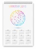Calendar template — Stock Vector