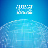 Blue planet icon — Stock Vector