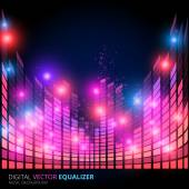 Music equalizer — Stock Vector