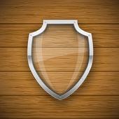 Glass Shield — Stock Vector