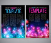 Music tepmplate — Stock Vector