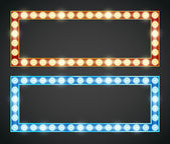 Frame lamp — Stock Vector