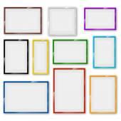 Frames set — Stock Vector