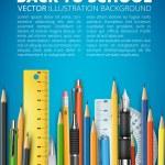 Mass pencils — Stock Vector #73656685