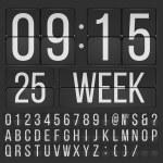Флип шрифта — Cтоковый вектор #74119797