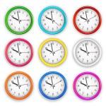 Wall clocks — Stock Vector #74724799