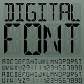 Digital Font — Stock Vector