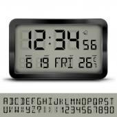 Digital clock — Stock Vector