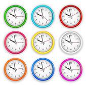 Relojes de pared — Vector de stock