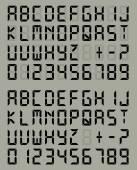 Digital Font — Stock Vector