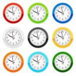 Wall clocks — Stock Vector #76689303