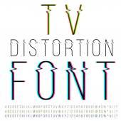 Distortion font — Stock Vector