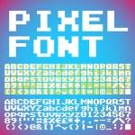 Постер, плакат: Pixel font