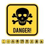 Danger skull — Stock Vector #78668704