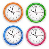 Wall clocks — Stock Vector
