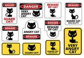 Danger cat — Stock Vector