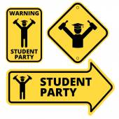 Student party — Stock Vector