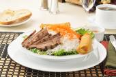 Beef Vietnamese Noodle Salad — Stock Photo