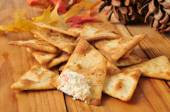 Pita bread chips — Stock Photo