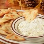 Постер, плакат: Pita Bread Crackers and cheese dip