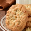 Macadamia nut cookies closeup — Stock Photo #54697711