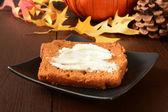 Pompoen brood — Stockfoto