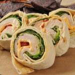 Chicken wrap sandwich — Stock Photo #55107787